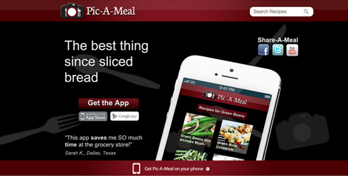 Pic-A-Meal website design